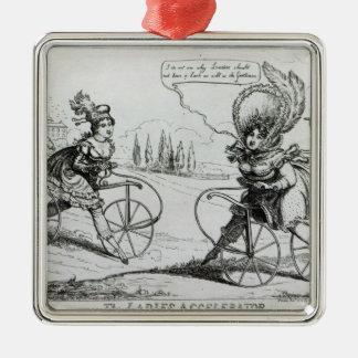 The Ladies Accelerator, 1819 Metal Ornament