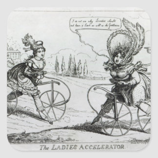 The Ladies Accelerator, 1819 Square Sticker