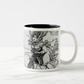 The Ladies Accelerator, 1819 Two-Tone Coffee Mug