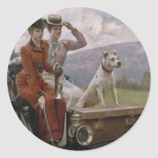 The Ladies Goldsmith in Woods of Boulogne Classic Round Sticker