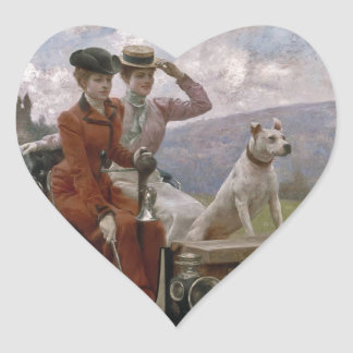 The Ladies Goldsmith in Woods of Boulogne Heart Sticker