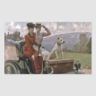 The Ladies Goldsmith in Woods of Boulogne Rectangular Sticker