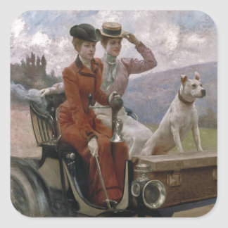 The Ladies Goldsmith in Woods of Boulogne Square Sticker