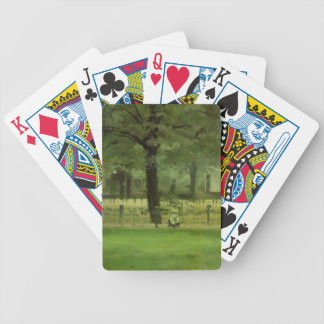 The Ladie's Mile, Kensington Gardens (oil on panel Bicycle Playing Cards