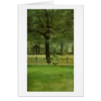 The Ladie's Mile, Kensington Gardens (oil on panel Card