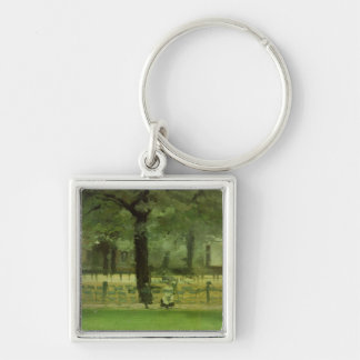 The Ladie's Mile, Kensington Gardens (oil on panel Keychain