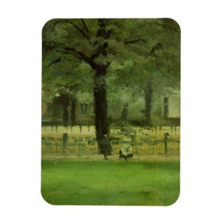 The Ladie's Mile, Kensington Gardens (oil on panel Magnet
