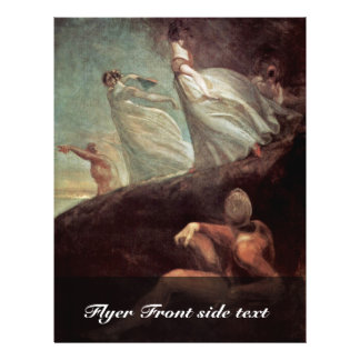The Ladies Of Hastings By Johann Heinrich Füssli ( Custom Flyer