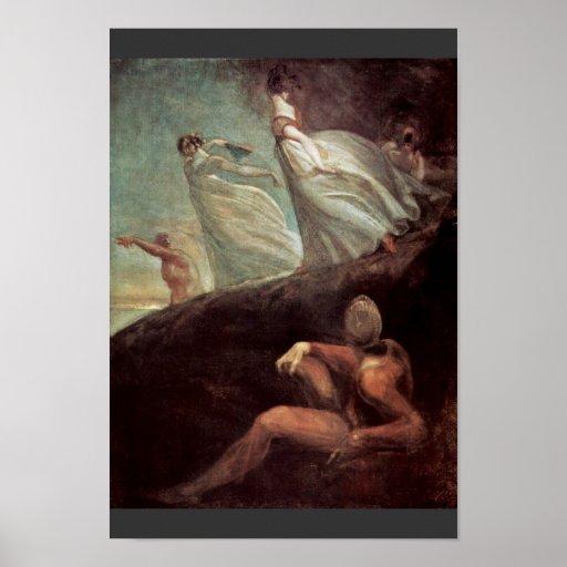 The Ladies Of Hastings By Johann Heinrich Füssli ( Poster