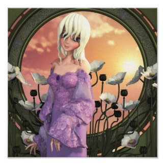 The Lady Amalthea Canvas/Poster Print