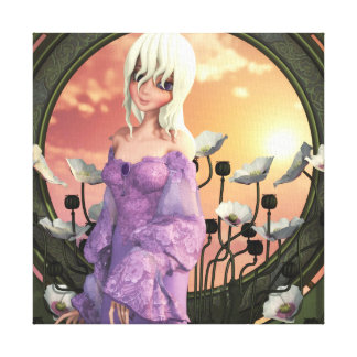 The Lady Amalthea Wrapped Canvas Print