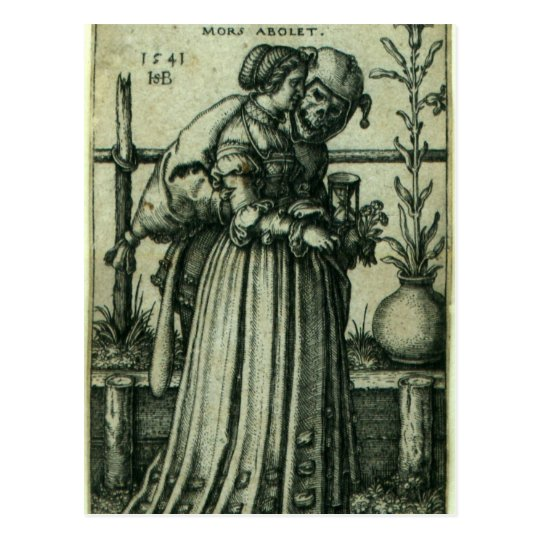 The Lady and Death Postcard