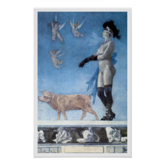 The Lady and Pig (Pornokrates) Print