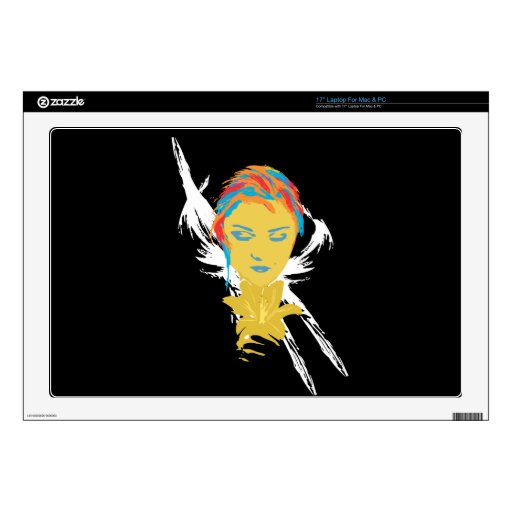 The Lady and the Flower Decals For Laptops