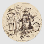 The Lady and the Tiger by Clifford K. Berryman Classic Round Sticker