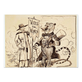 The Lady and the Tiger by Clifford K. Berryman 5x7 Paper Invitation Card