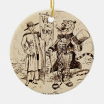 The Lady and the Tiger by Clifford K. Berryman Ornaments