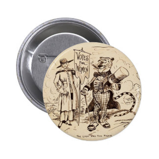 The Lady and the Tiger by Clifford K. Berryman Pinback Button