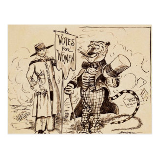 The Lady and the Tiger by Clifford K. Berryman Postcard