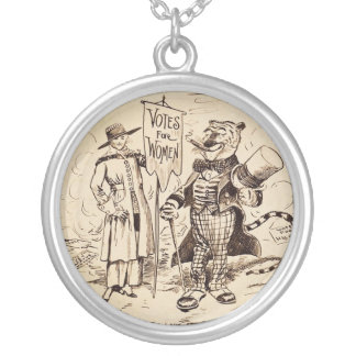 The Lady and the Tiger by Clifford K. Berryman Silver Plated Necklace