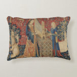 The Lady and the Unicorn: 'Hearing' Accent Pillow