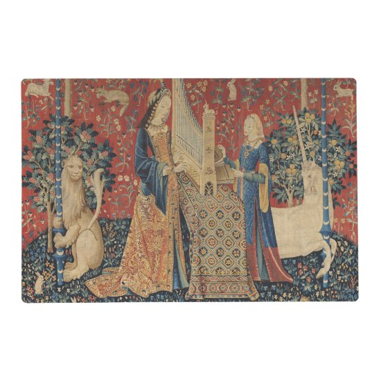 The Lady and the Unicorn: 'Hearing' Placemat
