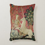 The Lady and the Unicorn: 'Sight' Accent Pillow