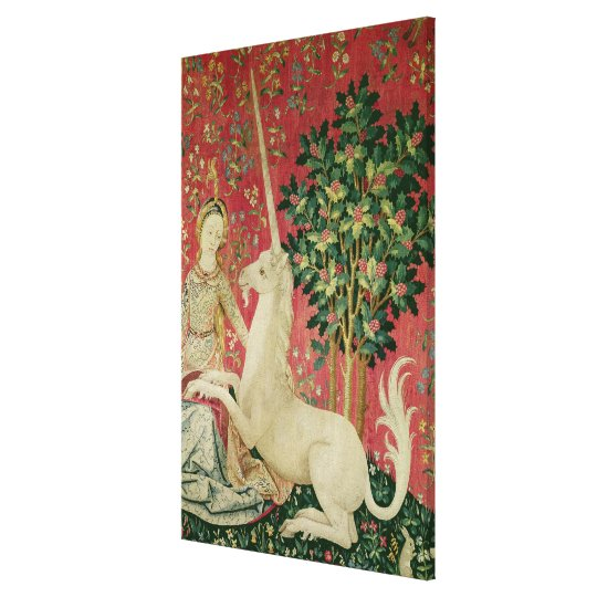 The Lady and the Unicorn: 'Sight' Canvas Print