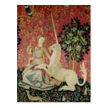 The Lady and the Unicorn: 'Sight' Post Card