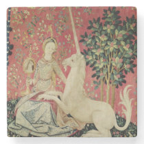 The Lady and the Unicorn: 'Sight' Stone Coaster
