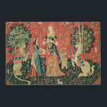 """The Lady and the Unicorn: &#39;Smell&#39; Placemat<br><div class=""""desc"""">French School&#39;s The Lady and the Unicorn: &#39;Smell&#39; located at the Musee National du Moyen Age et des Thermes de Cluny,  Paris. The The Lady and the Unicorn: &#39;Smell&#39; was created around the 16th century.</div>"""