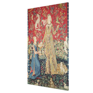 The Lady and the Unicorn: 'Taste' Canvas Print