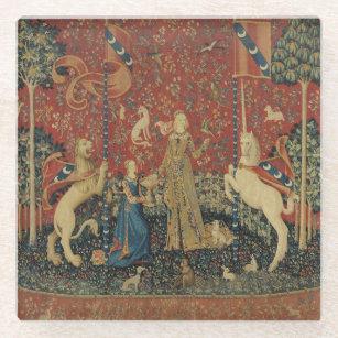 The Lady and the Unicorn: 'Taste' Glass Coaster