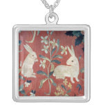 The Lady and the Unicorn: 'Taste' Square Pendant Necklace