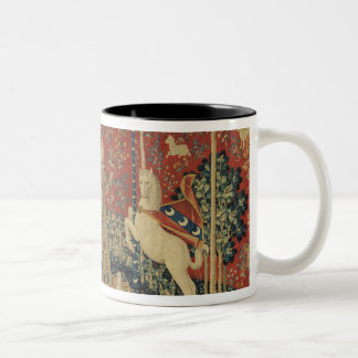 The Lady and the Unicorn: 'Taste' Two-Tone Coffee Mug