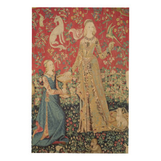 The Lady and the Unicorn: 'Taste' Wood Wall Art