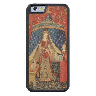 The Lady and the Unicorn: 'To my only desire' Carved Maple iPhone 6 Bumper Case