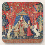 The Lady and the Unicorn: 'To my only desire' Coaster