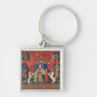 The Lady and the Unicorn: 'To my only desire' Silver-Colored Square Keychain