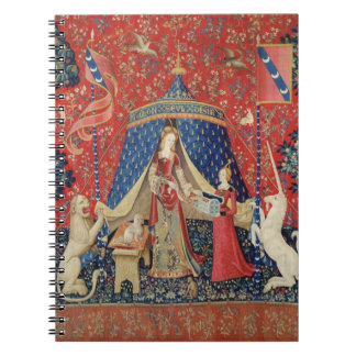 The Lady and the Unicorn: 'To my only desire' Spiral Notebook