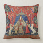 The Lady and the Unicorn: 'To my only desire' Throw Pillow