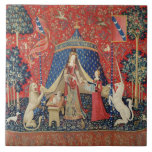 The Lady and the Unicorn: 'To my only desire' Ceramic Tile