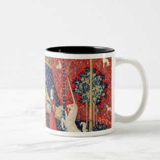 The Lady and the Unicorn: 'To my only desire' Two-Tone Coffee Mug