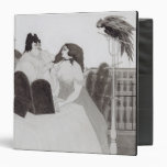The Lady at the Dressing Table (ink and wash) Vinyl Binder