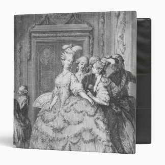 The lady at the Palais de la Reine 3 Ring Binder