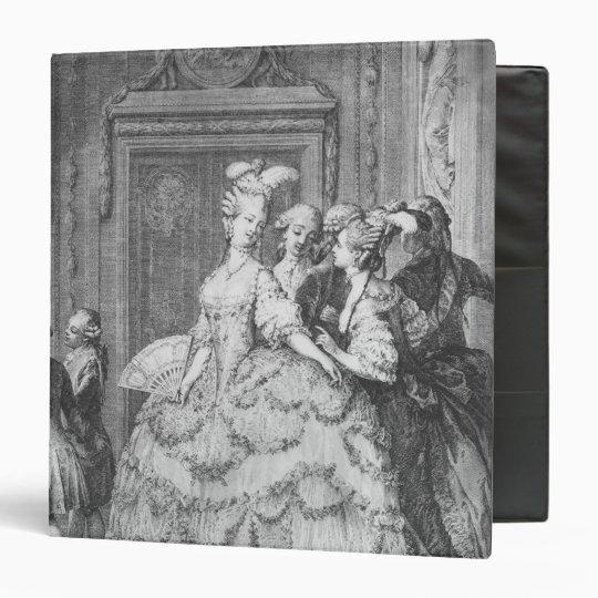 The lady at the Palais de la Reine 3 Ring Binder