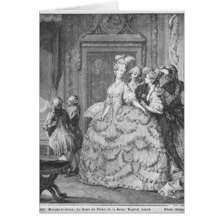 The lady at the Palais de la Reine Card
