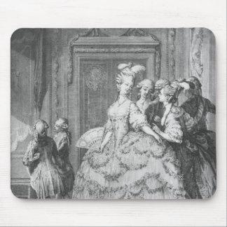 The lady at the Palais de la Reine Mouse Pad
