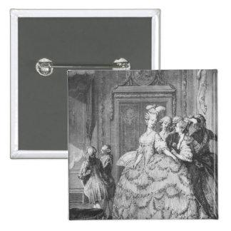 The lady at the Palais de la Reine Pinback Button