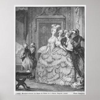 The lady at the Palais de la Reine Poster